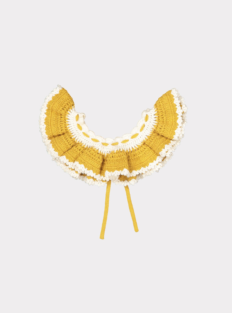 Riverdale Knitted Collar, Mustard