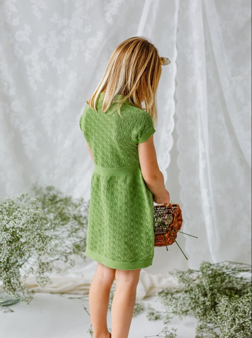 Cordelia Knitted Dress, Green