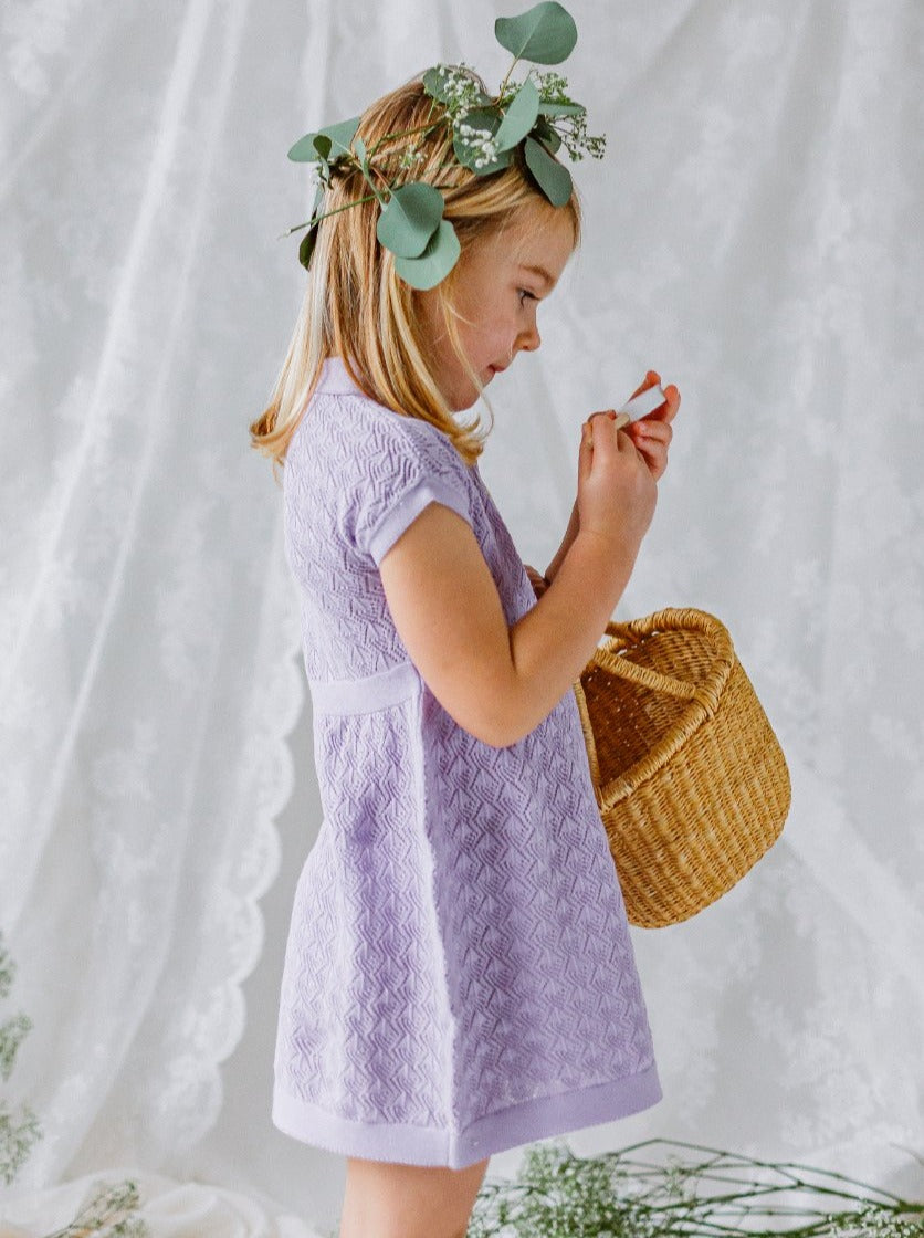 Cordelia Knitted Dress, Lilac