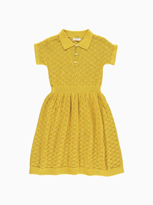 Cordelia Knitted Dress, Mustard