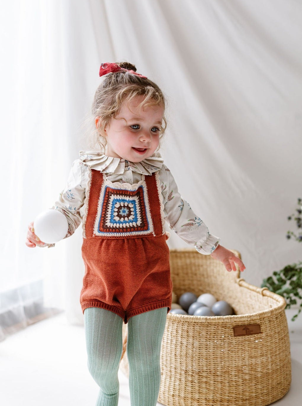 Littlemead Crochet Dungaree, Mocca