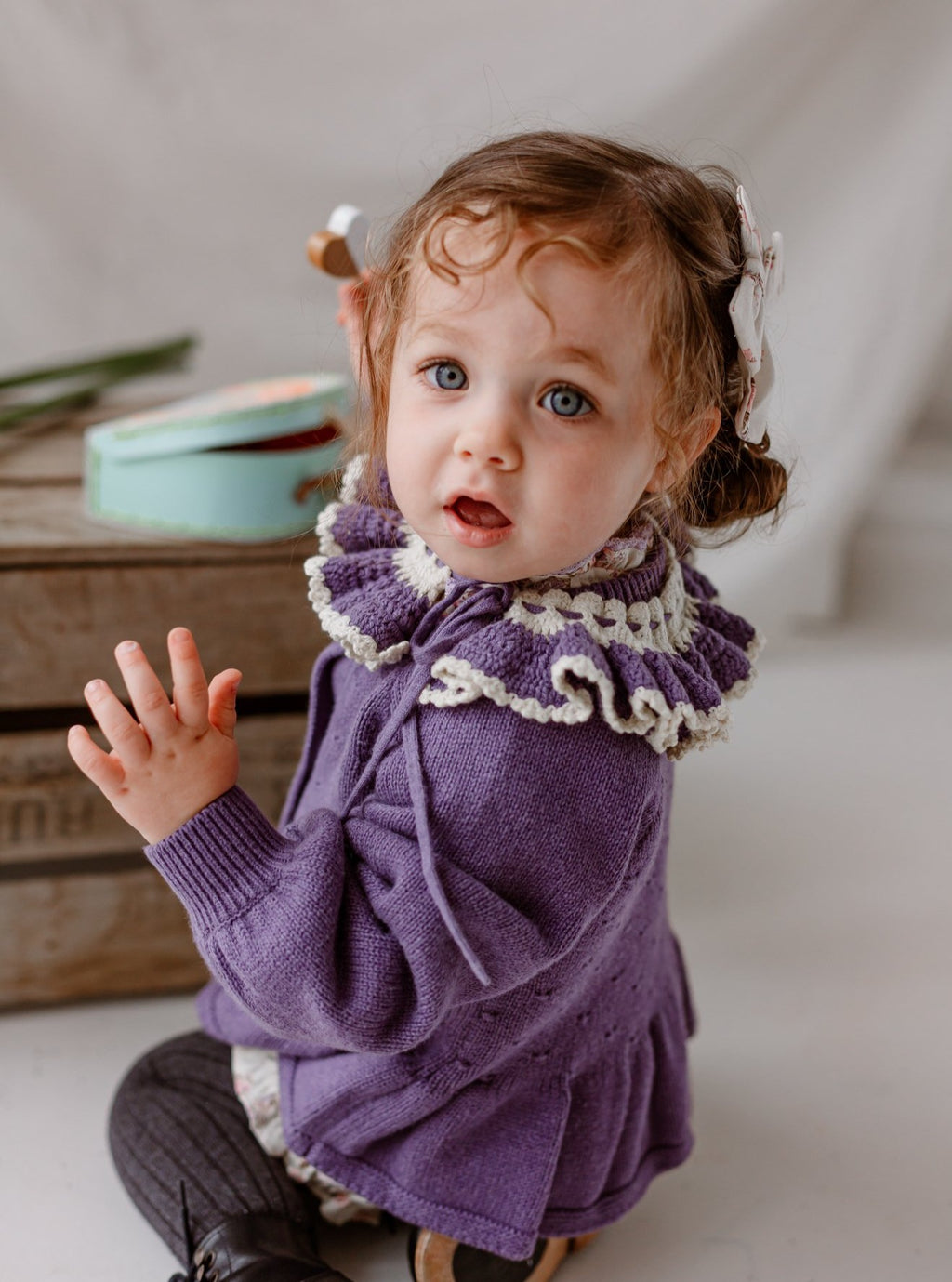 Novington Cardigan, Purple Twilight