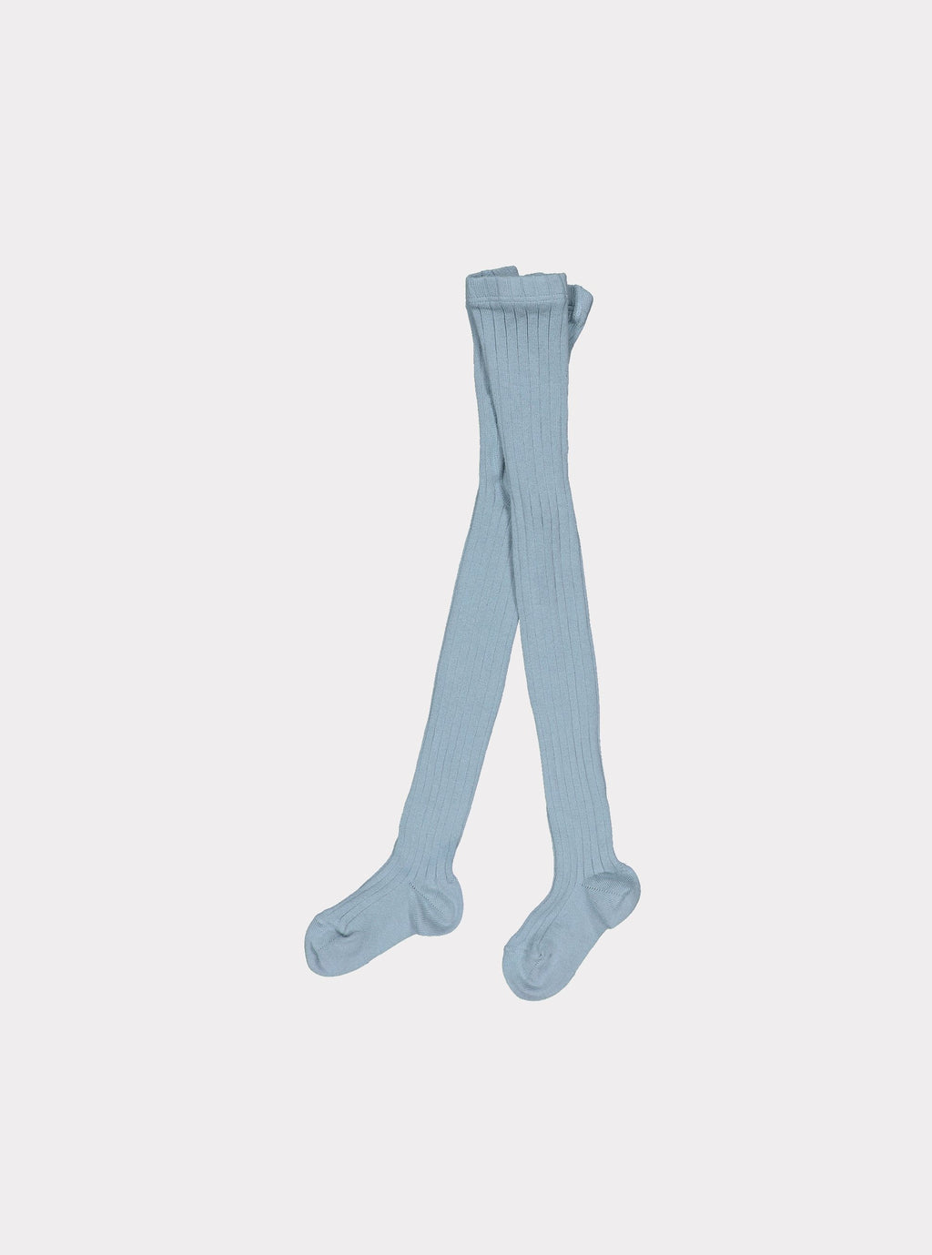 Ultra-Soft Pima Cotton Ribbed Tights, Sky Blue