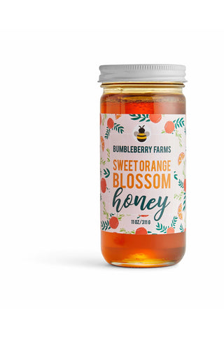 Pure Orange Blossom Honey - 11OZ