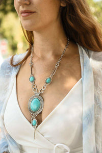 Turquoise Bolo Necklace