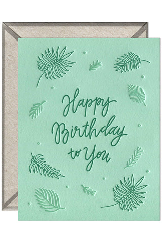 Birthday Ferns - greeting card