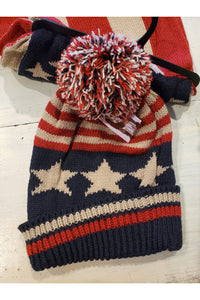 American Flag Scarf and Hat Set