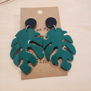 Monsterra Leaf Earrings