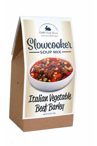 Italian Vegetable Beef Barley Soup Slow Cooker Mix