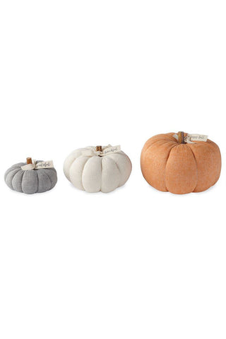 Stuffed Felted Wool Pumpkins