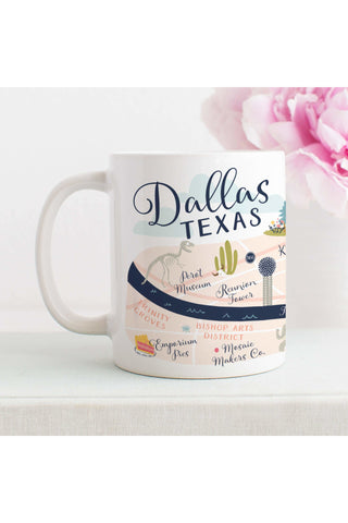 Dallas Map Mug