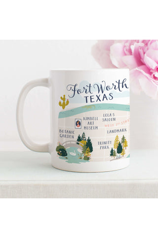 Fort Worth Map Mug