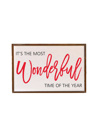 12x18 The Most Wonderful Time Of The Year Box Sign