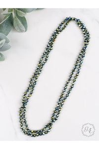 "The Essential 60"" Double Wrap Beaded Necklace, Metallic Mermaid 8mm"