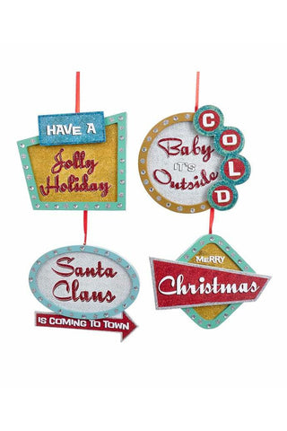 Wooden Christmas Sign Ornaments