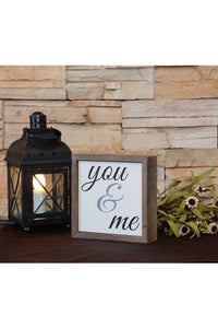 6x6 You & Me Sign