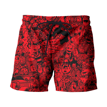 Mechanical Mashup Swim Shorts