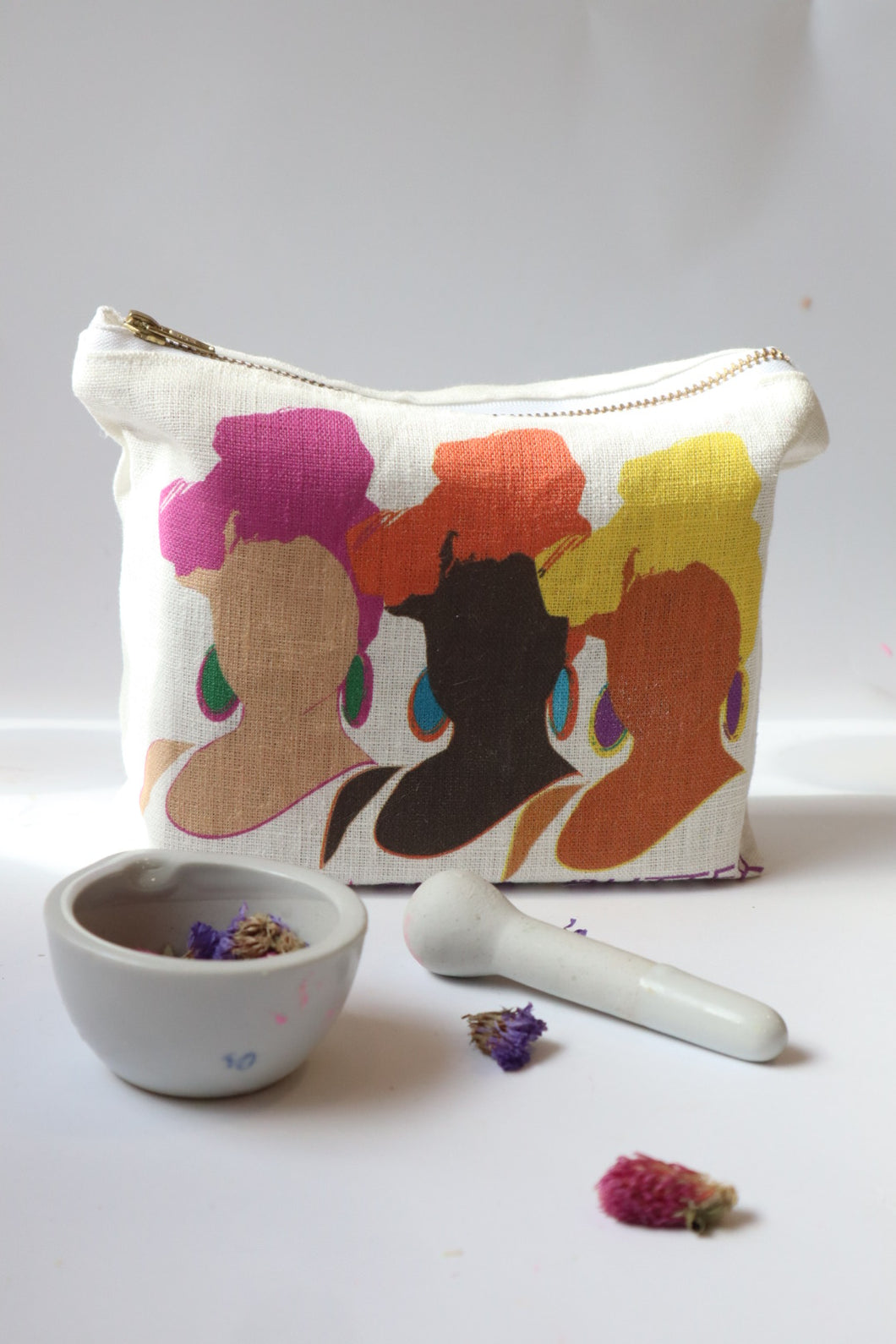 Lithuanian Linen Toiletry and Make-Up Bag