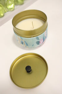 Cherry Candle in Decorative Tin