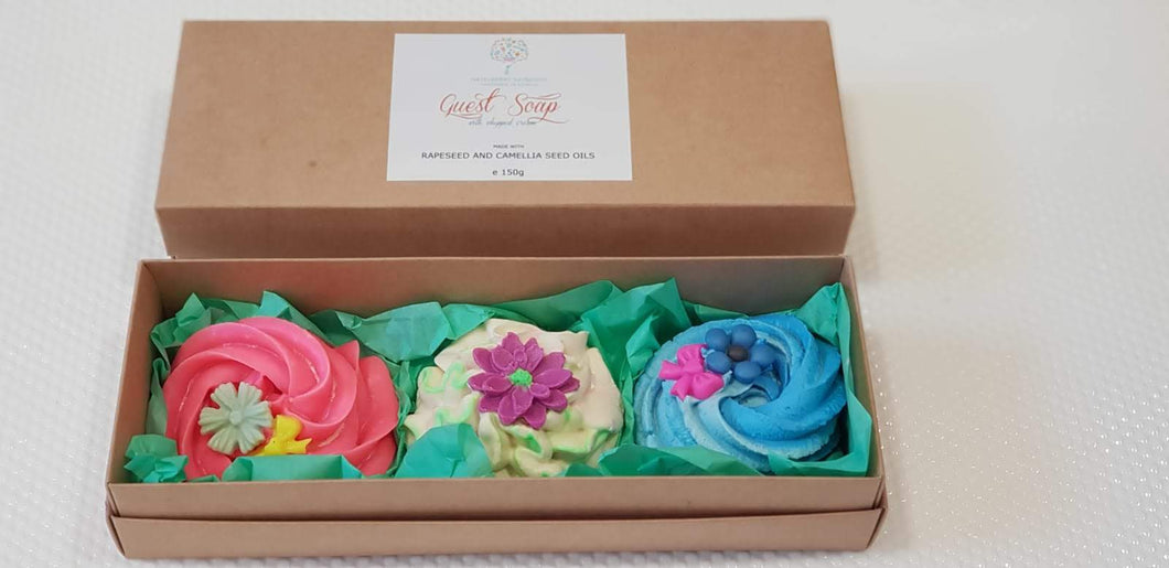 Pretty Guest Soap Set of 3