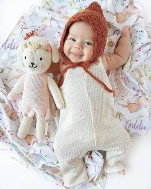 *terracotta* harper | pixie bonnet (limited) - Loops For Littles, handmade knits for infants and toddlers