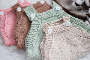 knit romper | natural • cotton - Loops For Littles, handmade knits for infants and toddlers