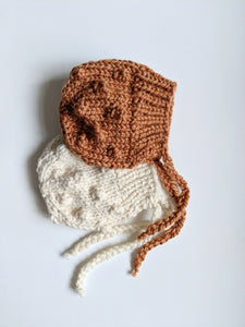 bobble winter bonnet