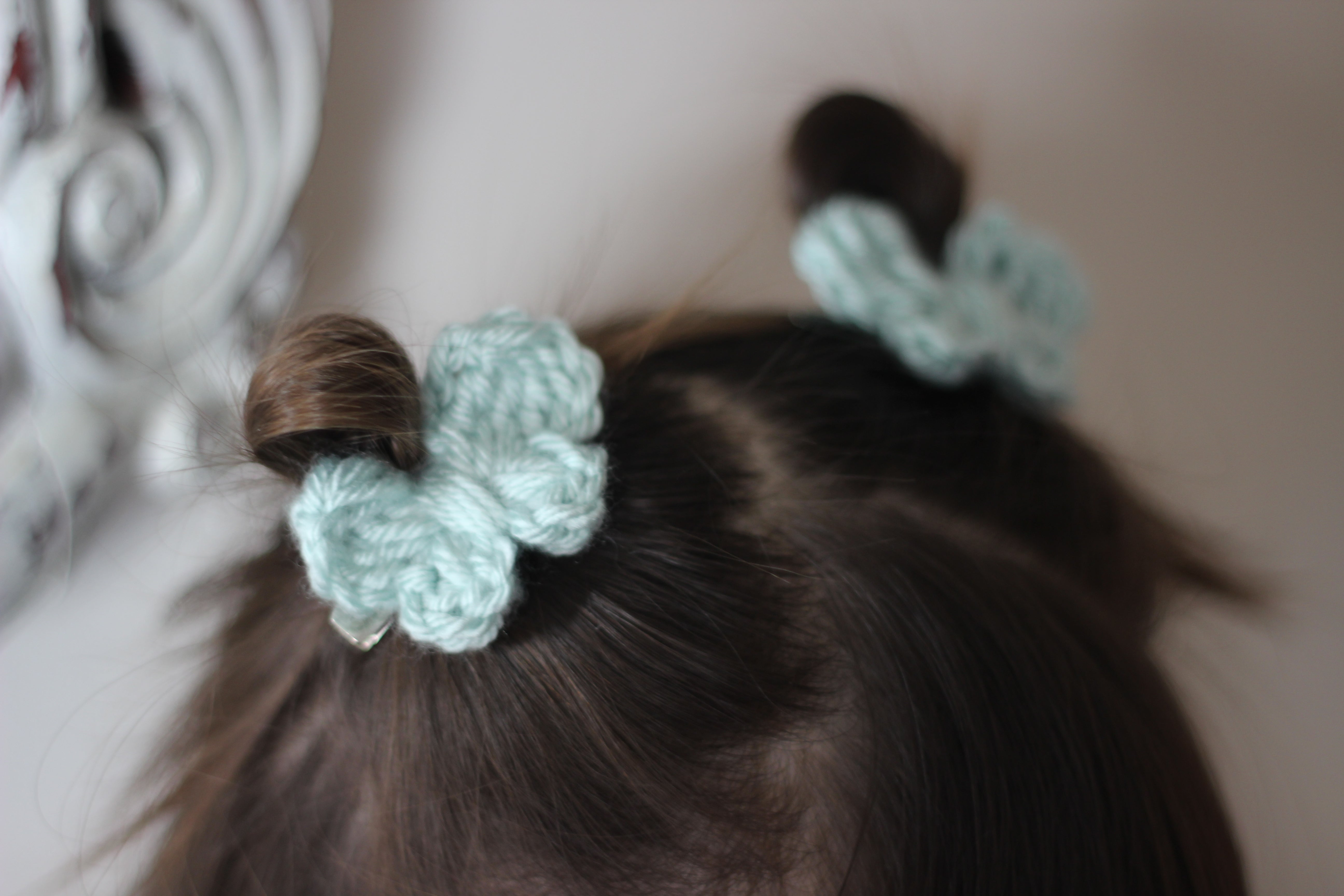 chouko | butterfly pigtail clips - Loops For Littles, handmade knits for infants and toddlers