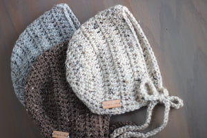 basic bonnet + colours - Loops For Littles, handmade knits for infants and toddlers