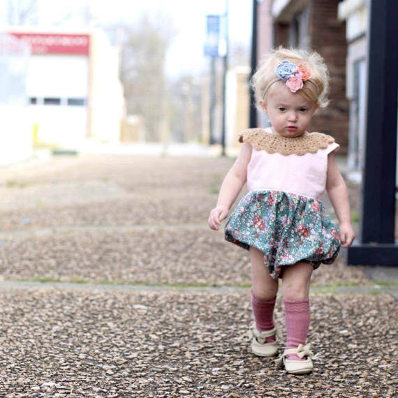 paisley | vintage lace collar + colours - Loops For Littles, handmade knits for infants and toddlers