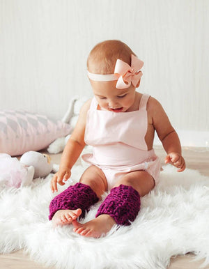 chubby knitted leg warmers - Loops For Littles, handmade knits for infants and toddlers