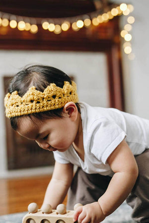 ellie | crochet play-time crown - Loops For Littles, handmade knits for infants and toddlers