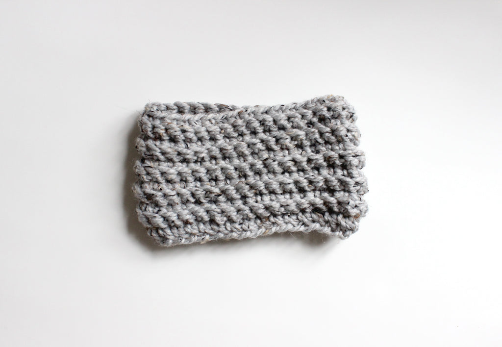 toddler marble grey chunky infinity loop scarf