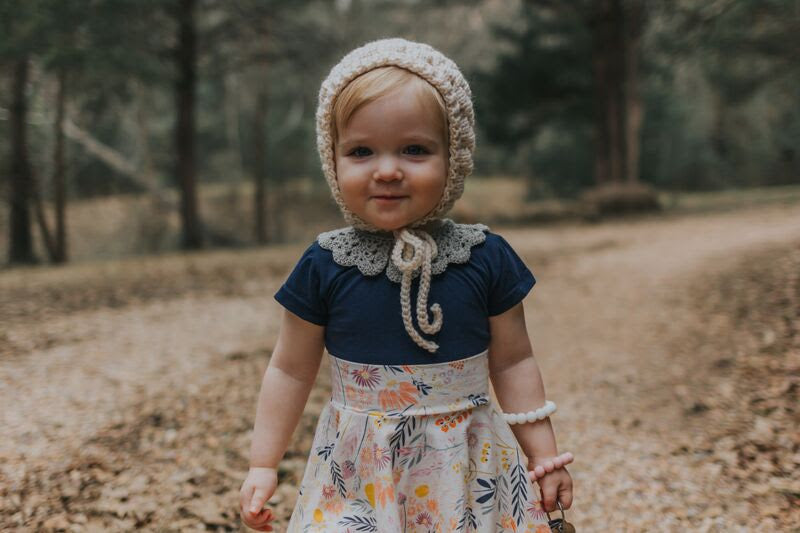 evey | vintage bubble bonnet + colours - Loops For Littles, handmade knits for infants and toddlers