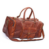 Genuine Handmade Tan leather duffel light brown gym overnight weekend luggage travel bag - nomad&fashion