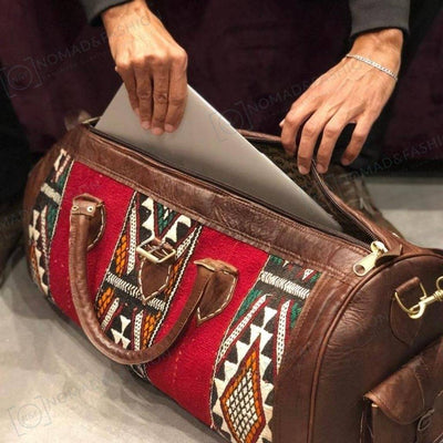 The Leather Kilim Travel Bag - FREE SHIPPING OFFER