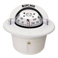Ritchie F-50W Explorer Compass - Flush Mount - White [F-50W]
