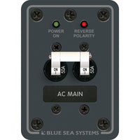 Blue Sea 8079 AC Main Only Circuit Breaker Panel - White Switches [8079]