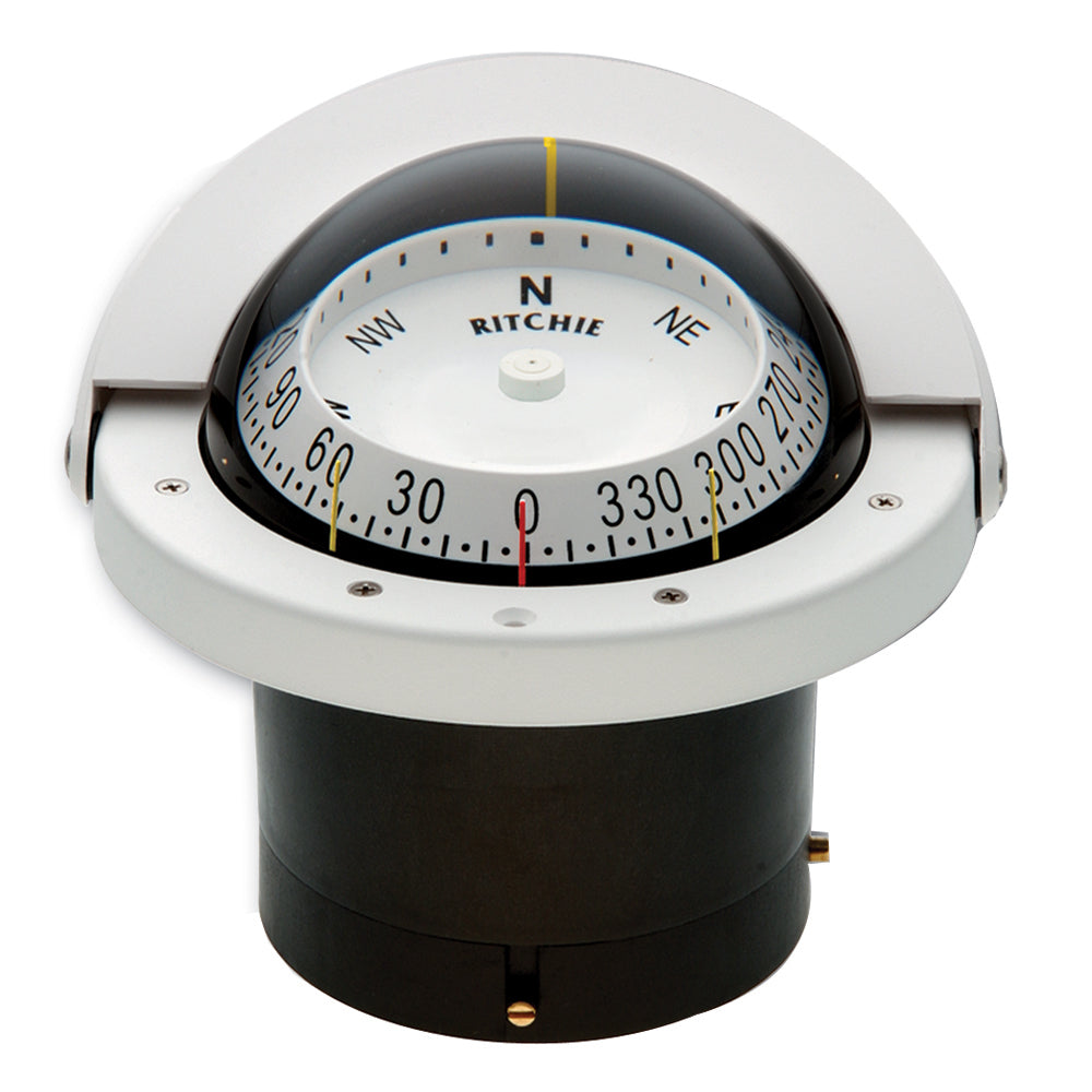 Ritchie FNW-203 Navigator Compass - Flush Mount - White [FNW-203]