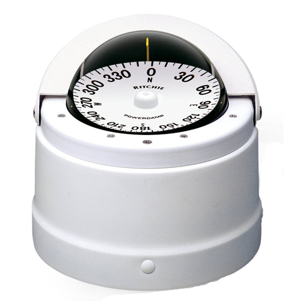 Ritchie DNW-200 Navigator Compass - Binnacle Mount - White [DNW-200]