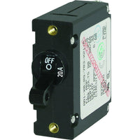 Blue Sea 7212 AC / DC Single Pole Magnetic World Circuit Breaker  -  20 Amp [7212]