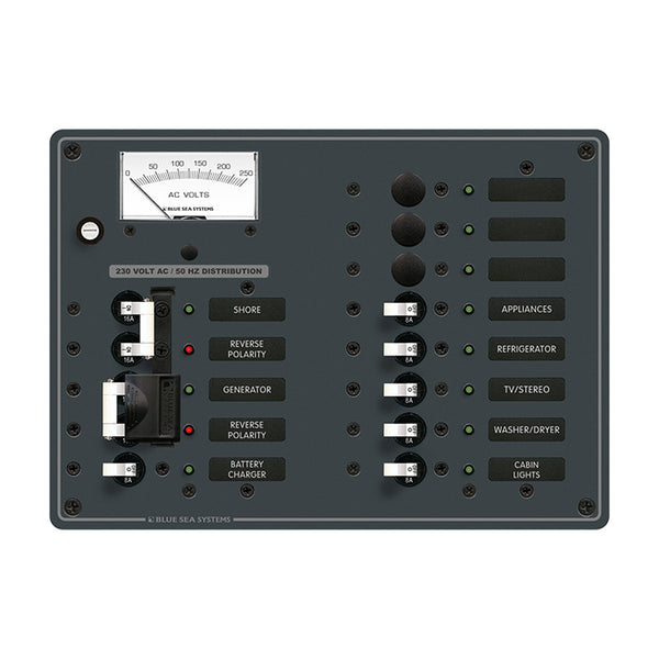Blue Sea 8562 AC Toggle Source Selector (230V) - 2 Sources + 9 Positions [8562]