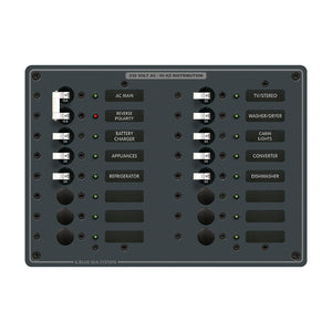 Blue Sea 8564 Breaker Panel - AC Main + 14 Positions (European) - White [8564]