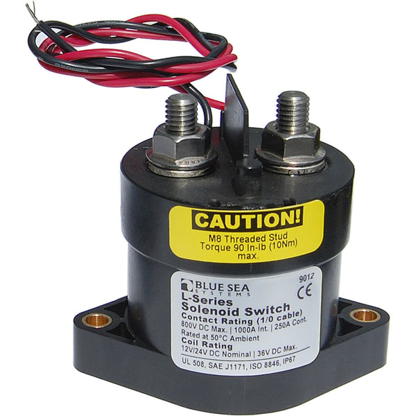 Blue Sea 9012 L Solenoid Switch - 12-24VDC - 250A [9012]