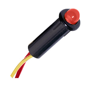 "Paneltronics LED Indicator Light - Red - 120 VAC - 1/4"" [048-011]"