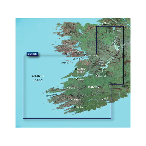 Garmin BlueChart g3 Vision HD - VEU483S - Galway Bay to Cork - microSD/SD [010-C0827-00]