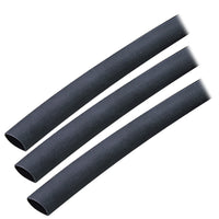 "Ancor Adhesive Lined Heat Shrink Tubing (ALT) - 3/8"" x 3"" - 3-Pack - Black [304103]"