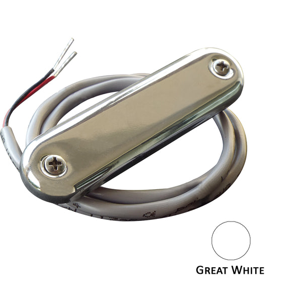 Shadow-Caster Courtesy Light w/2' Lead Wire - 316 SS Cover - Great White - 4-Pack [SCM-CL-GW-SS-4PACK]