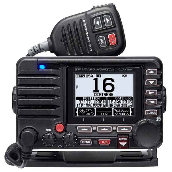 Standard Horizon Quantum GX6000 25W Commercial Grade Fixed Mount VHF w/NMEA 2000, Integrated AIS receiver,  Speaker Mic [GX6000]
