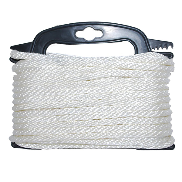 "Attwood Braided Nylon Rope - 3/16"" x 100' - White [117553-7]"